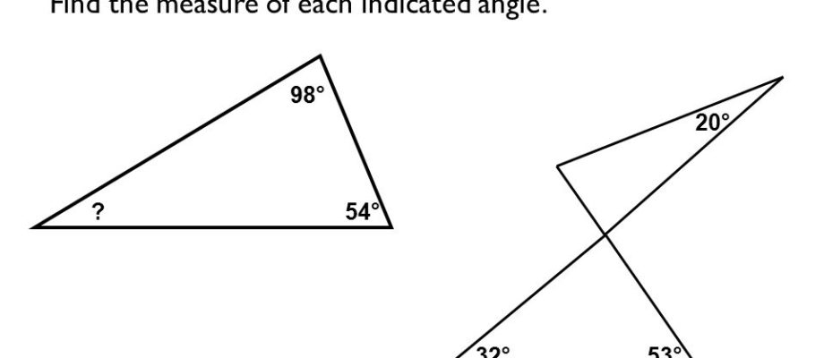 How to find the measure of the indicated angle